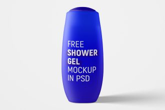 Free Shower Gel Bottle Mockup Set