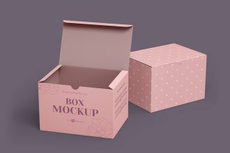 Free Box Template in PSD