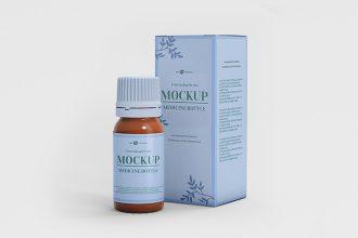 Free PSD Medicine Bottle Mockup Template