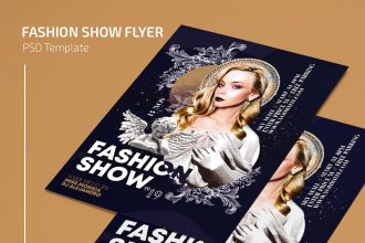Free Fashion Show Flyer Template in PSD