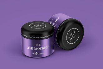 Free PSD Cosmetic Jar Mockup Set