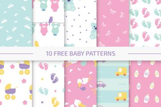 10 Free Baby Vector Patterns Set