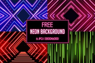 6 Free Neon Backgrounds