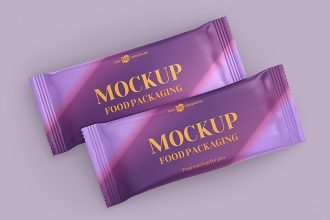 Free Food Packaging Mockup Templates in PSD