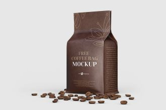 Coffee Bag Mockup in PSD