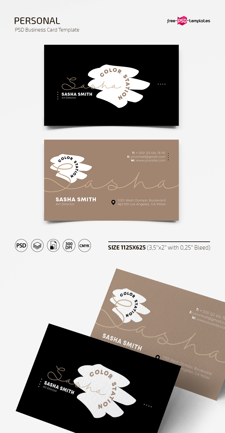 Free Personal Business Card Template | Free PSD Templates