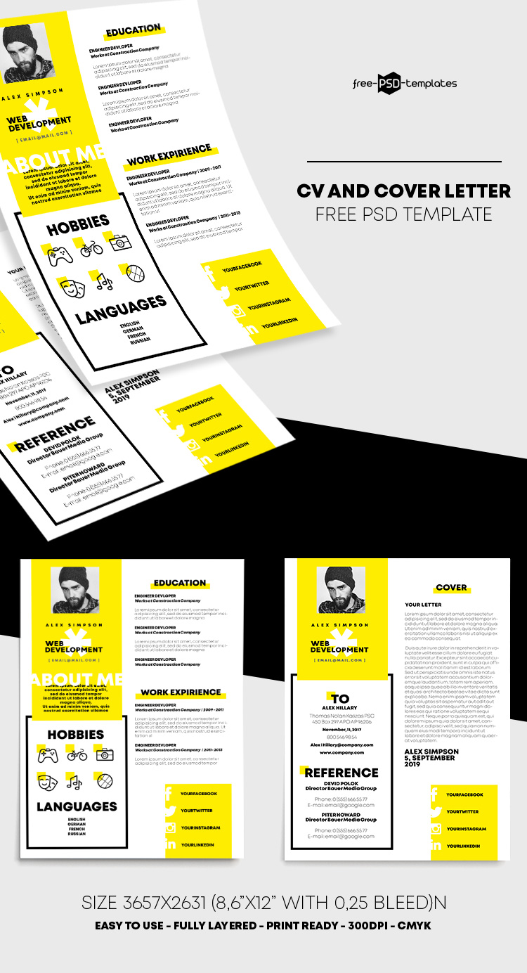 Free CV Resume Template in PSD | Free PSD Templates