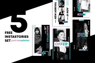 Free Shop Stories Set Template in PSD