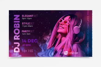 Free DJ Party Banner Set Template