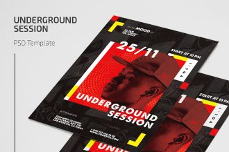 Free Underground Session Flyer Template in PSD