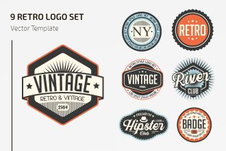 Free Vector Retro Logo Set Template
