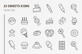 Free Sweets Icons Vector Template