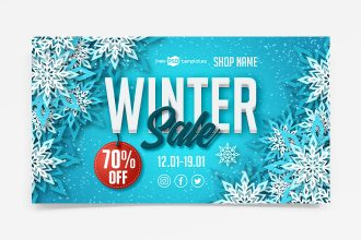 Free Winter Sale Banner Set Template
