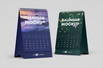 Free PSD Calendar Mockup Set