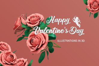 Free Valentine's Day Illustrations in 3D