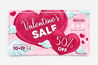 Free Valentine's Day Sale Banner Set Template