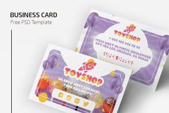 Free Toyshop Business Card Template