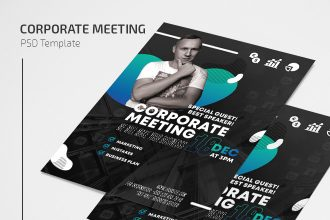 Free Corporate Meeting Flyer Template