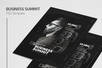 Free Business Summit Flyer Template in PSD