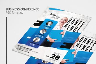 Free Business Conference Flyer Template in PSD