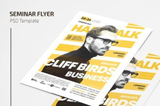 Free Seminar Flyer Template in PSD