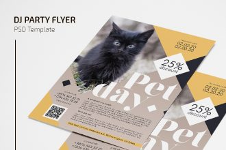 Free Pet Day Flyer in PSD