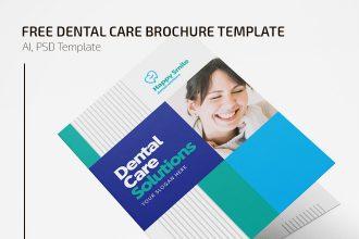 Free Dental Brochure in PSD