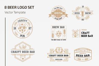 Free Beer Logo Set Template