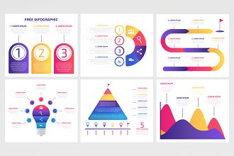 Free Vector Infographic Set
