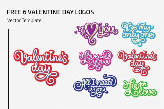 Free Vector Valentine Day Logos Set