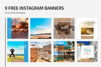 Free Outdoor Instagram Banner Templates