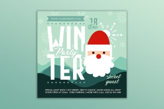 Free Winter Party Banner Set Template