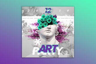 Free Art Party Banner Set Template