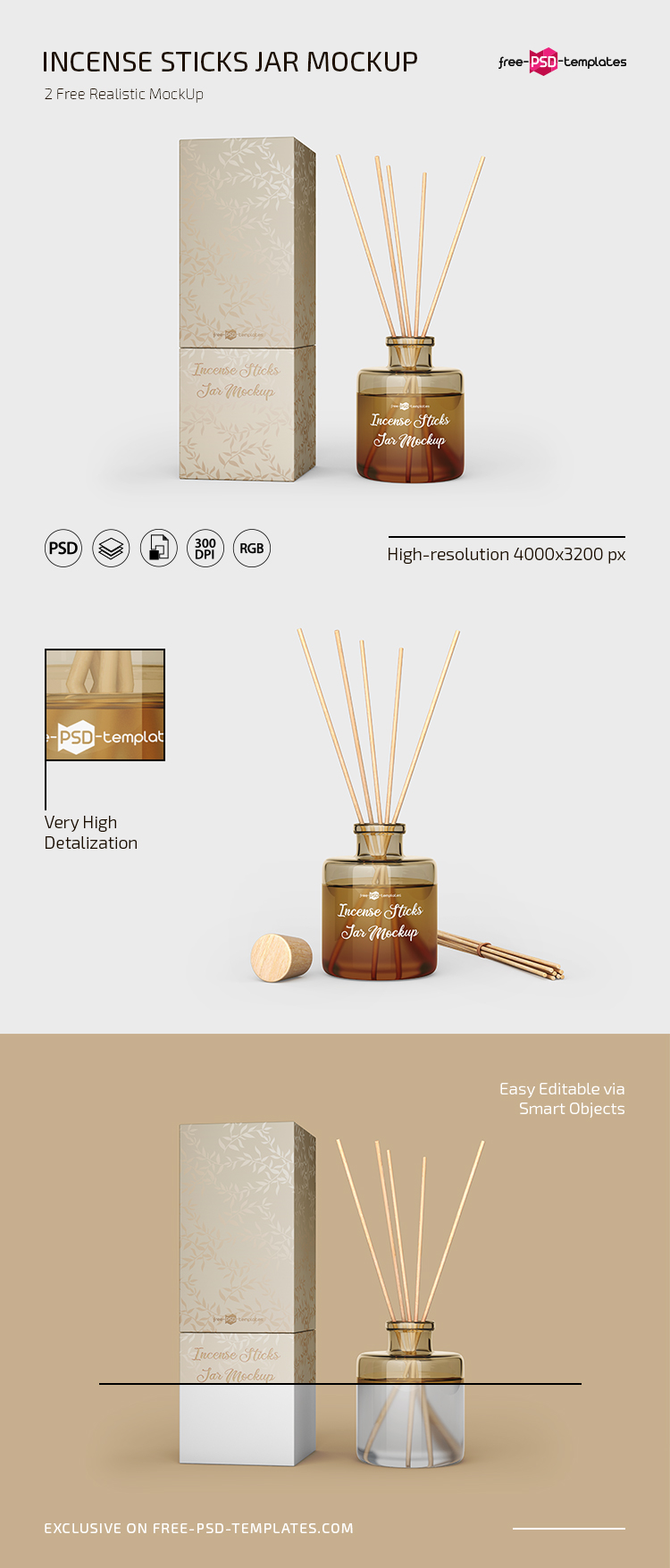 Free Incense Sticks Jar Mockup In Psd Free Psd Templates