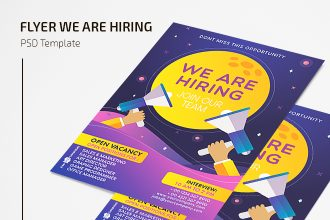 Free PSD We Are Hiring Flyer