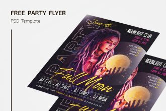 Free Full Moon Party Flyer Templates