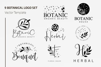 Free Vector Botanical Logo Set Template