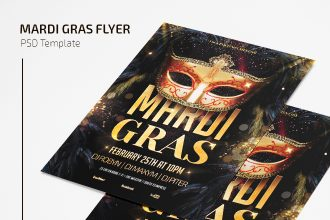 Free Mardi Gras Flyer Template in PSD