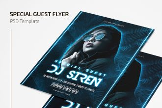 Free Special Guest Flyer Template in PSD
