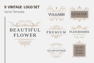 Free Elegant Vintage Logo Template