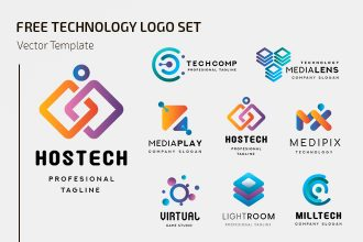 Free Technology Logo Design Templates (Vector)