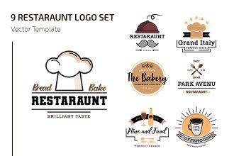 Free Restaraunt Logo Set Template