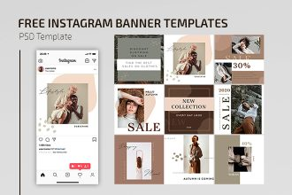 Free Clothing Store Instagram Banner Templates