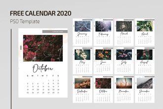 Free Calendar 2020 Template