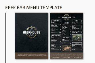 Free PSD Bar Menu Template
