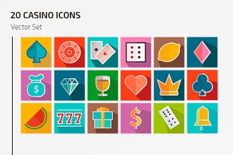 Free Vector Casino Icons Template
