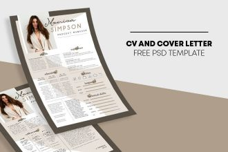 Free CV Resume PSD Flyer Template