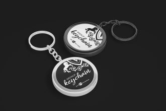 Free PSD Keychain Mockup Set