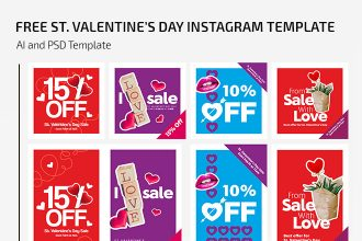 Free St. Valentine's Day Instagram Set