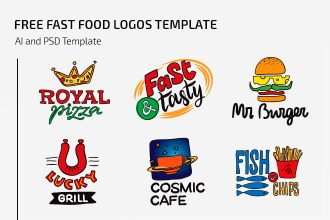 Free Fast Food Logos Template